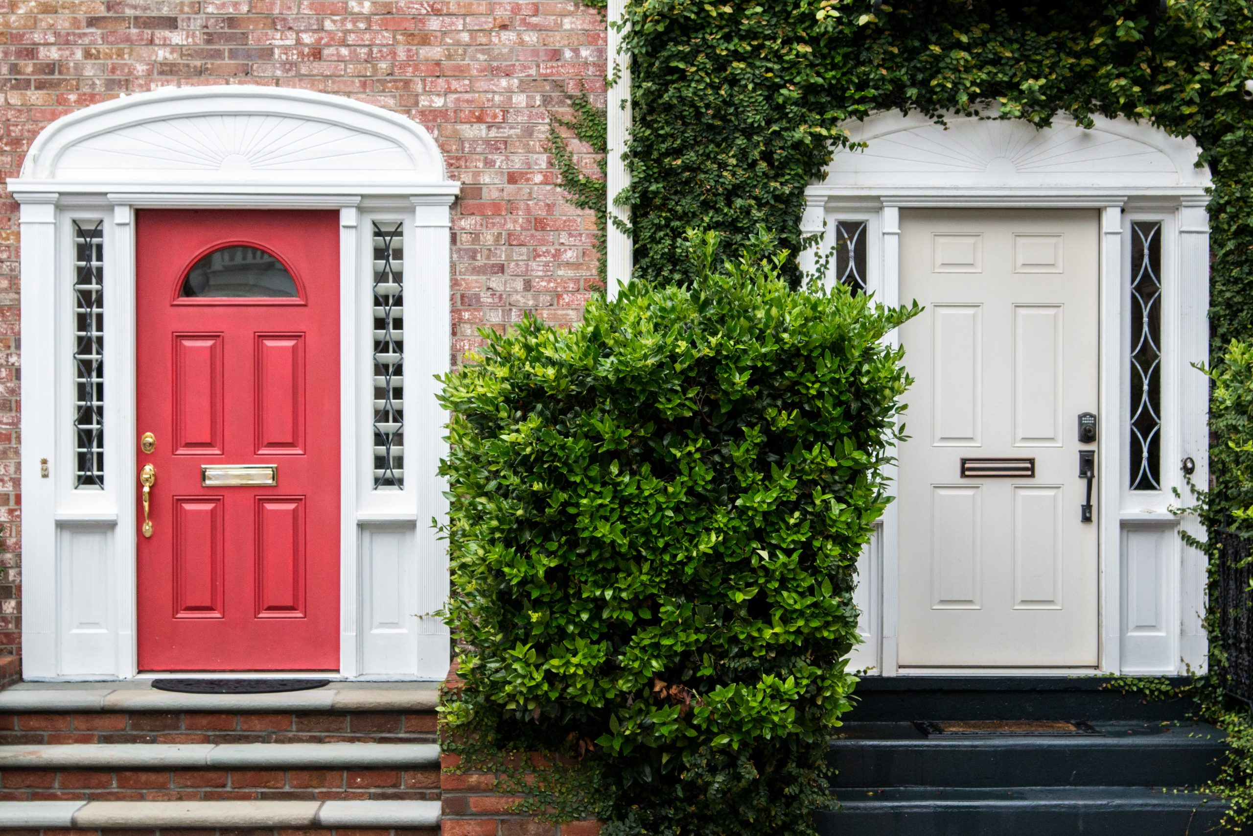 colorful bright front door