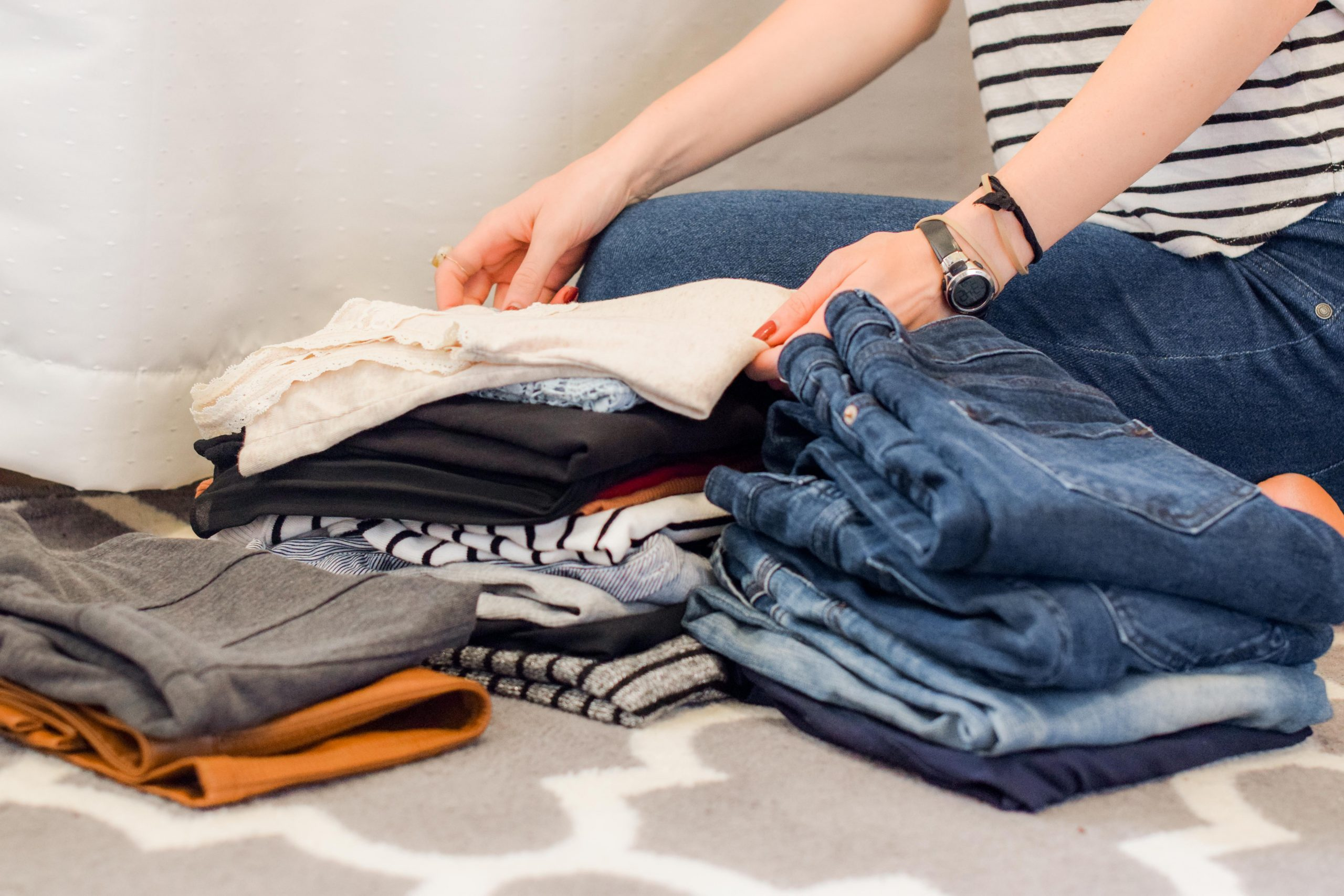 decluttering and folding
